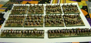 The massed ranks of the Cavalry